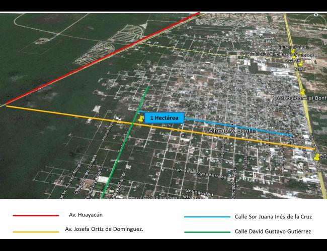 Terreno en venta en SM 307 Cancún