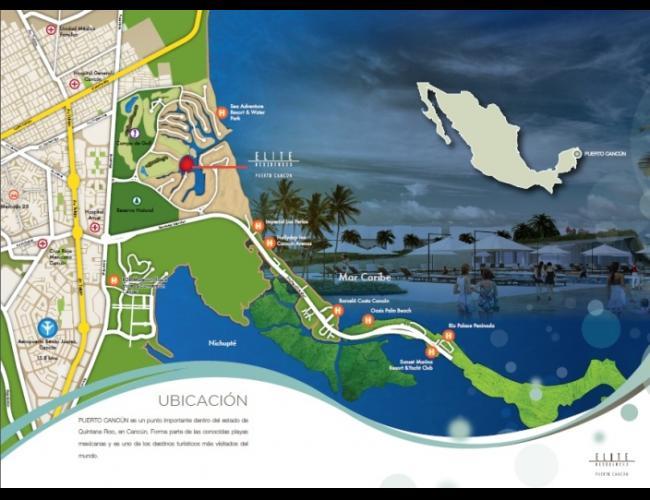 """Departamentos en Venta """"ELITE RESIDENCES"""" Cancún"""