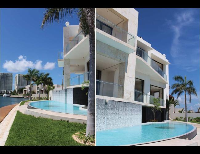 Casa en venta Puerto Cancún con acabados de lujo